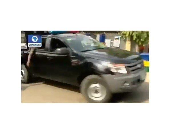 police officer van
