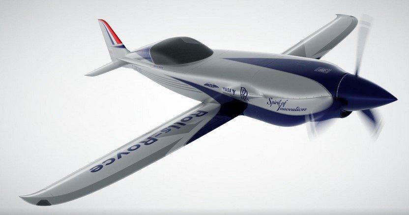 rolls royce all electric plane