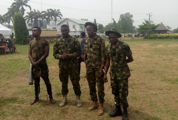 fake army officers arrested in imo state