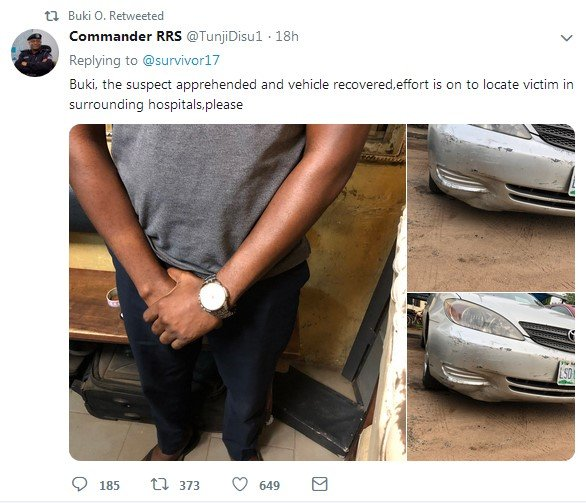 hit and run nabbed by rss in lagos
