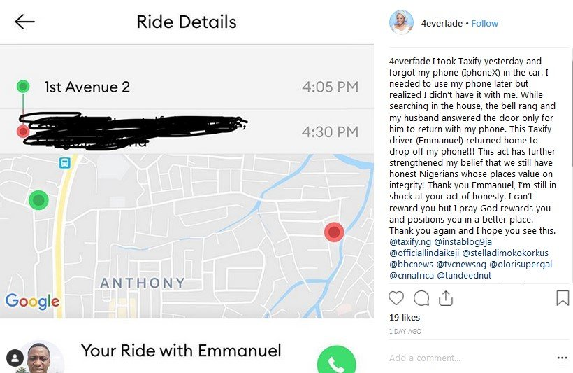 taxify driver reeturns iphoneX