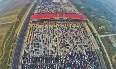 50 lane traffic jam china