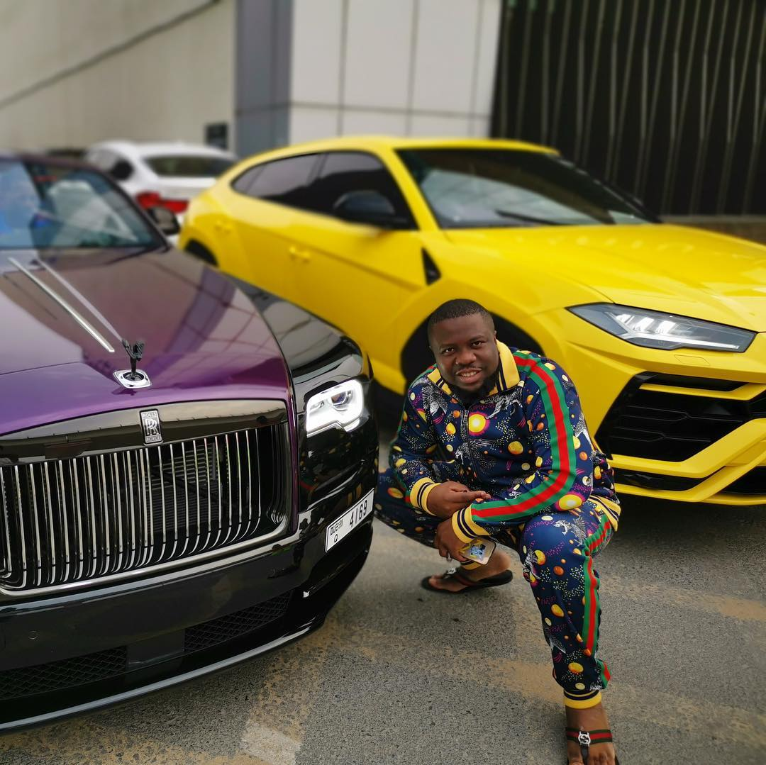 Hushpuppi Poses With A Rolls Royce Wraith And Lamborghini Urus (PHOTOS) - AUTOJOSH