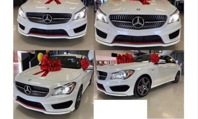 bobrisky buys benz for self