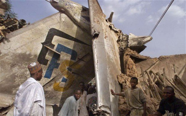 first aircraft crash in nigeria