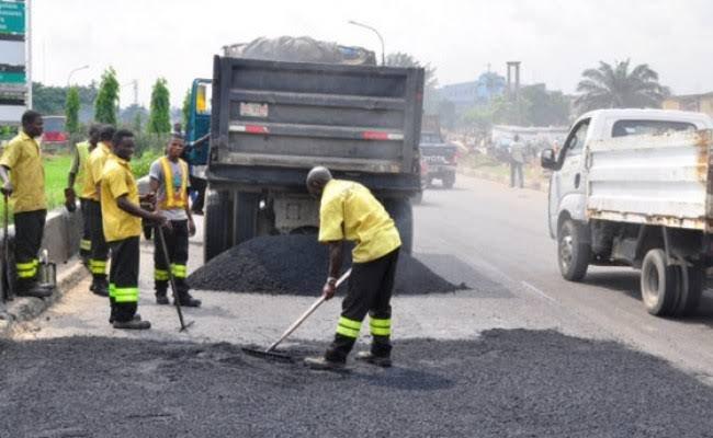 lagos potholes repair