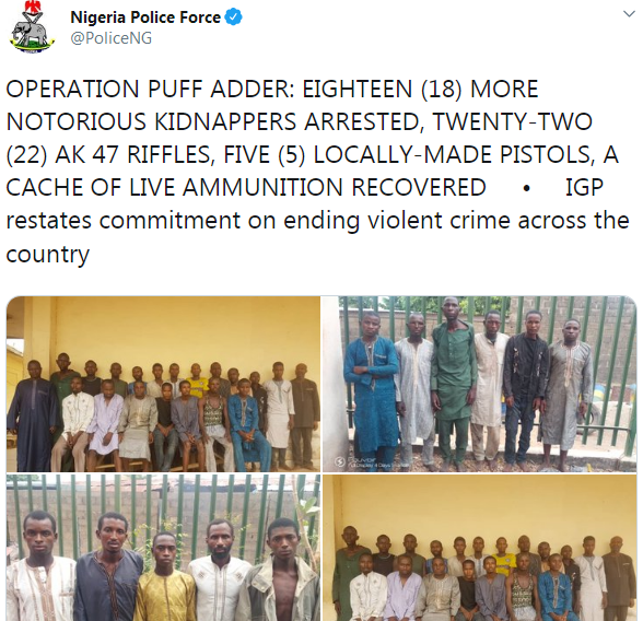 nigerian police arrest kidnappers
