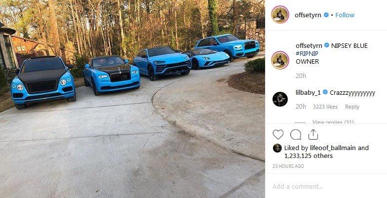 rapper offset cars