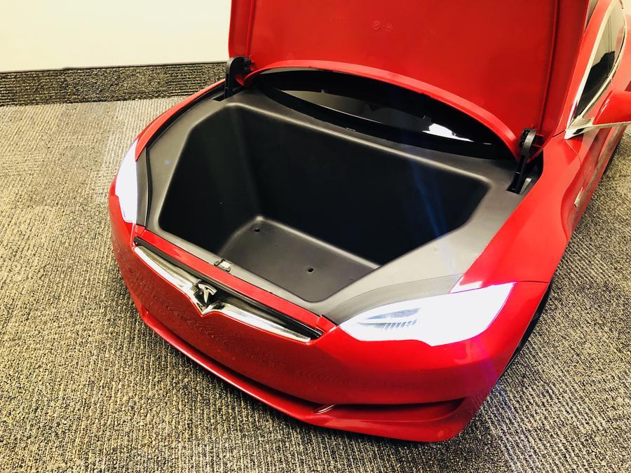 kids tesla model s trunk