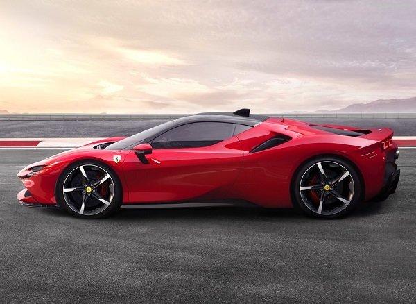 Ferrari SF90 Stradale side view