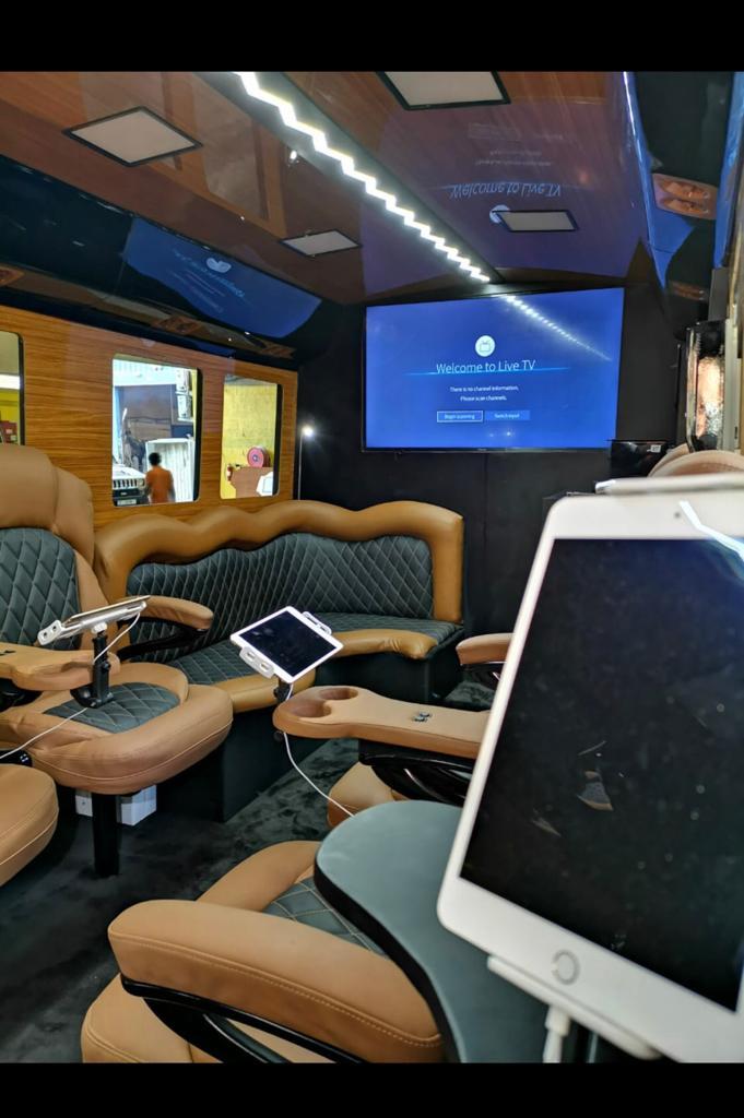 bulletproof toyota coaster bus interior
