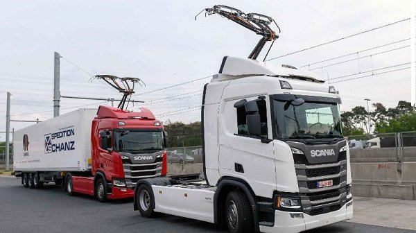 germany electric highway truck