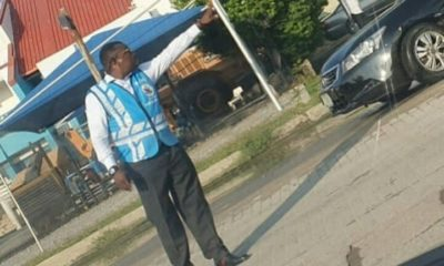 comedian alibaba controlling traffic as an FRSC special marshal