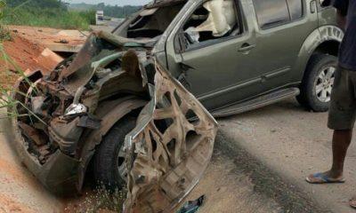 yul edochie accident scene