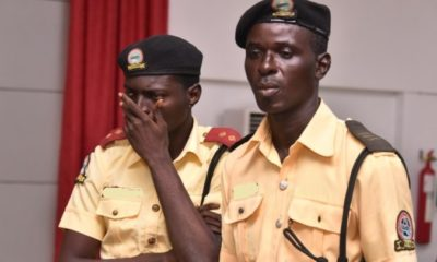 lastma officers paraded for exrortion