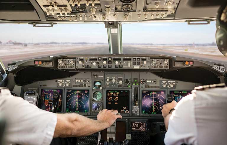 pilot in a plane