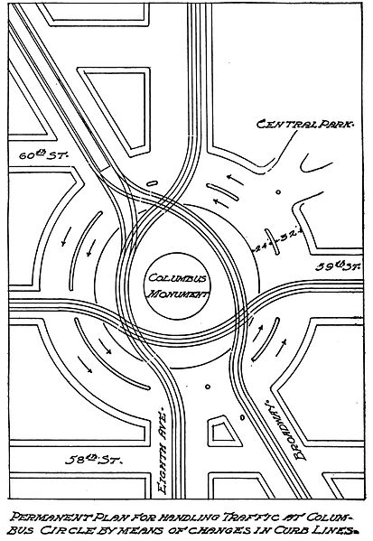 safety ensured roundabout designed by William Phelps Eno