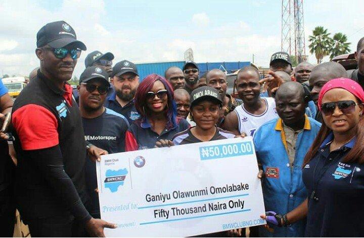 bmw club nigeria celebrates female mechanic