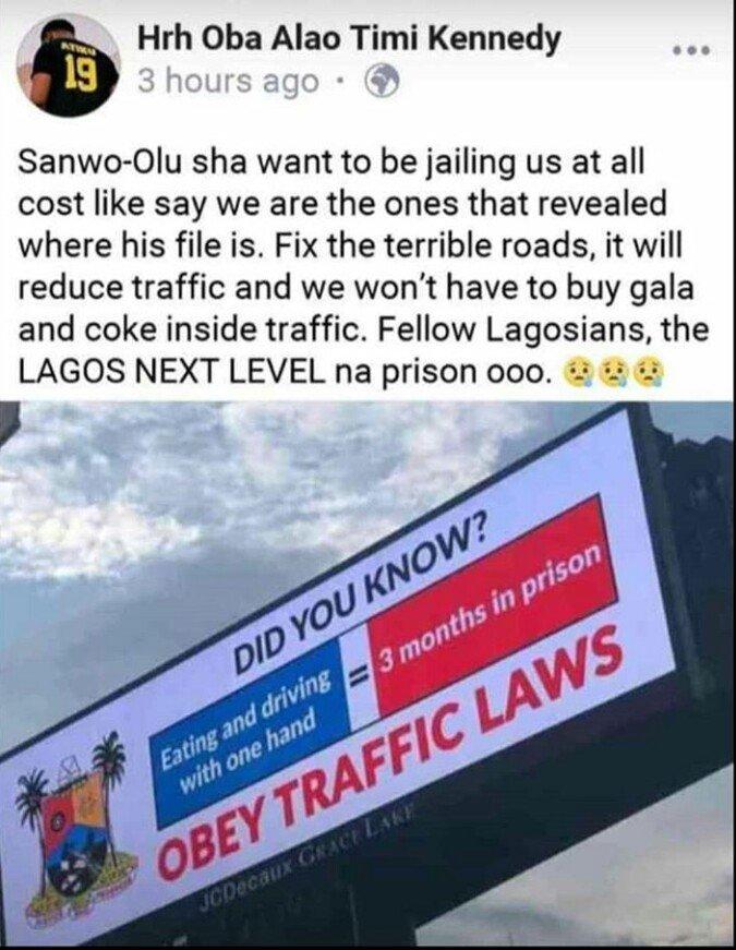 lagos traffic laws