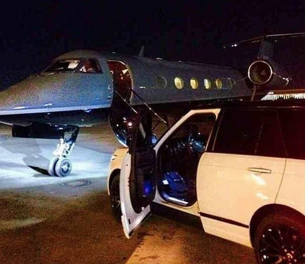 Three private jets