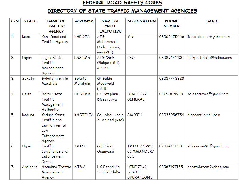 traffic management agencies