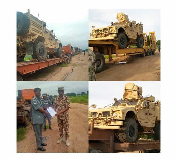 military vehicles intercepted
