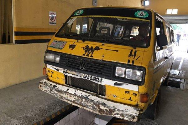 Danfo Bus Undergoing Computerized Vehicle Inspection