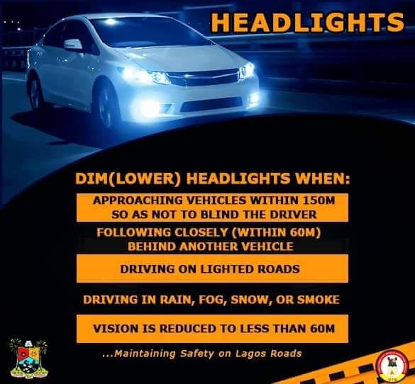dim headlights