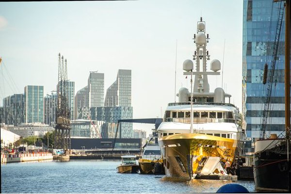 Yacht Wrapped In Gold 2