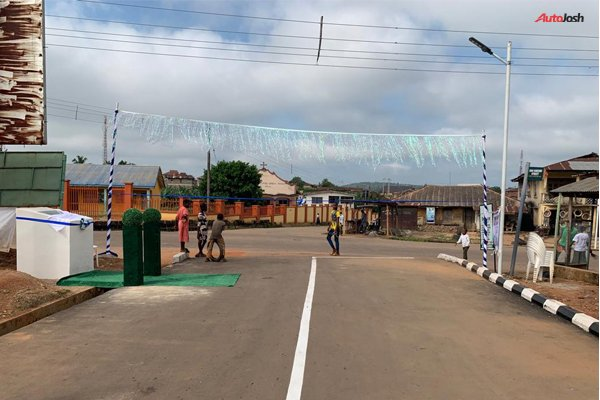 6-KM road network constructed in by the Chairman of Toyota Nigeria Ltd, Michael Ade-Ojo.