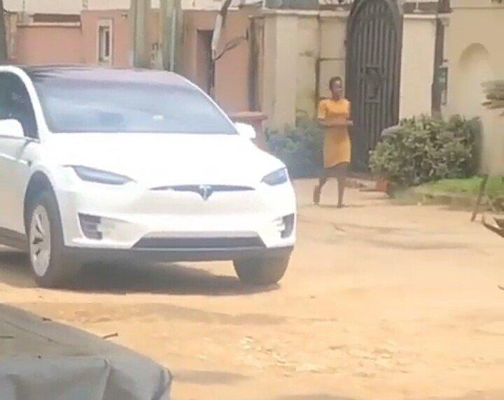 Tesla Model X nigerian road