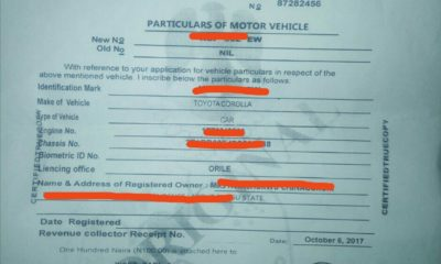 cmr vehicle document