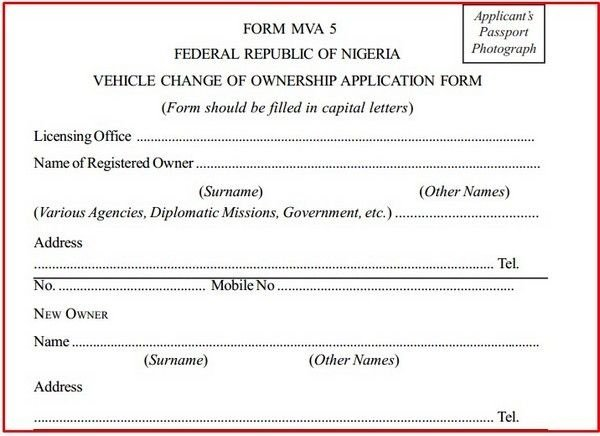 vehicle change of ownership