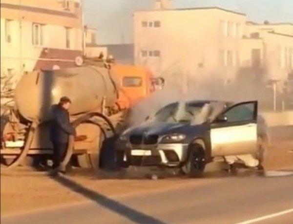 BMW-X6-Septic-Truck