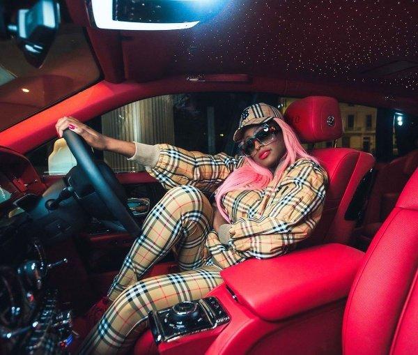 DJ-Cuppy-Rolls-Royce-Phantom-Otedola