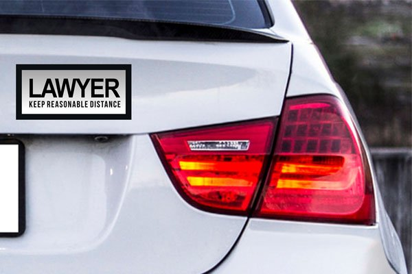 Lawyers bumper stickers