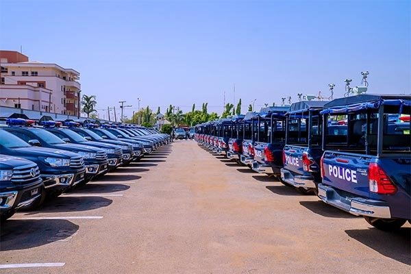 President Buhari Commissions Police Combat Vehicles (Videos, Photos)