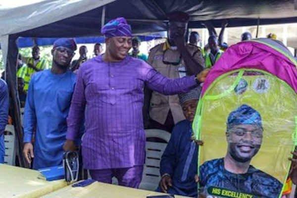 Seyi Makinde Introduces Shelter kits For Okada Riders In Oyo