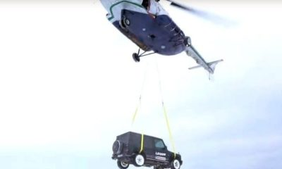 Russian-vlogger-blogger-Mercedes-amg-G63-helicopter