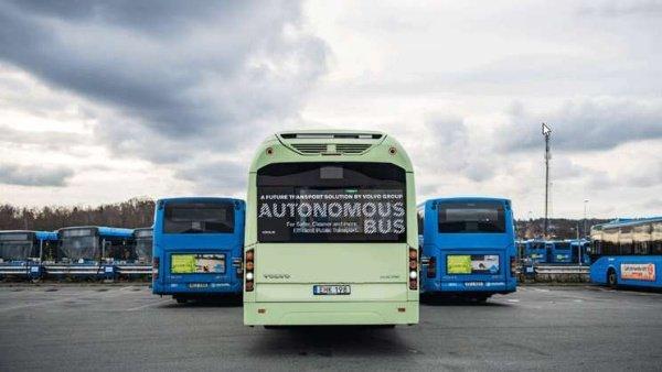 Volvo-Self-driving-Autonomous-Buses-Depot