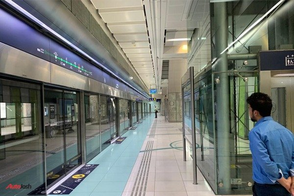The Dubai Metro is a fully automated and driverless railway system
