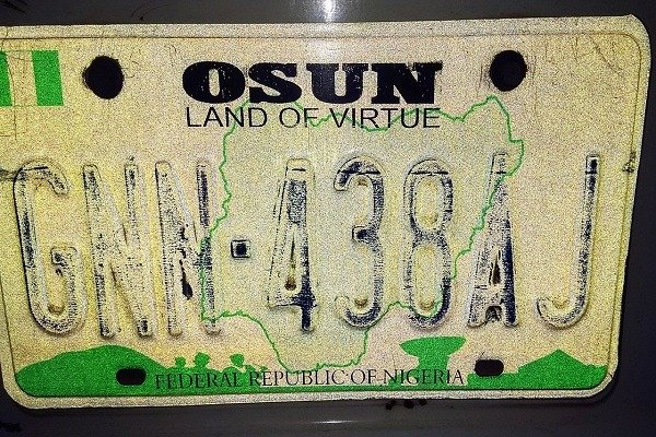 Osun State Plate Number Codes