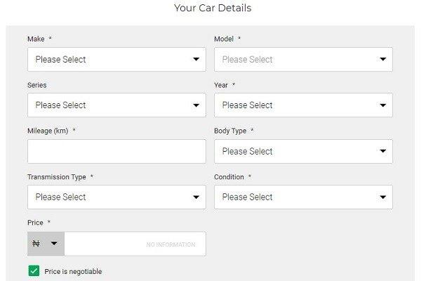sell your car cheki
