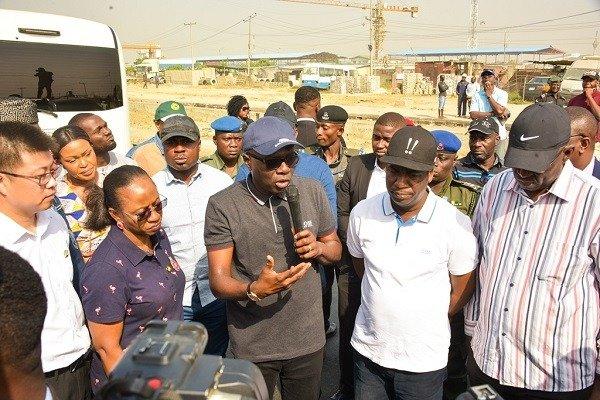 sanwo olu Lagos Badagry Expressway inspection