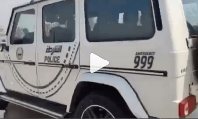 A Nigerian commended an Arabian Police vehicle in a viral video, he disclosed that police gave him a presidential treatment after he was arrested.