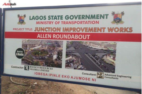 Allen-Awolowo Way Roundabout autojosh