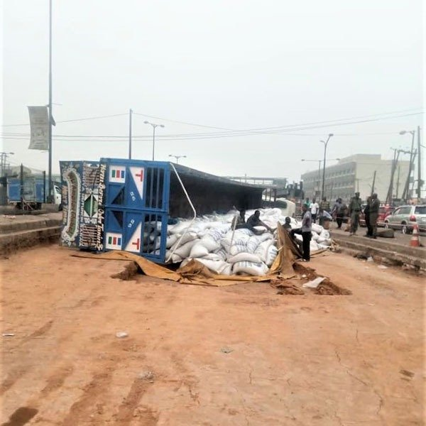Truck That Fell At Ojota Today