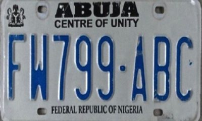abuja number plate codes
