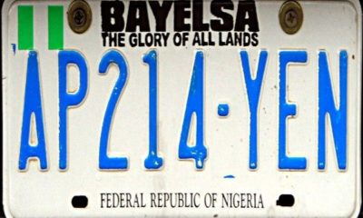 bayelsa number plate code