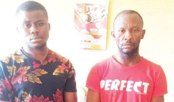 2-men-arrested-for-stealing-7-cars-at-redemption-camp-sells-parts-in-anambra